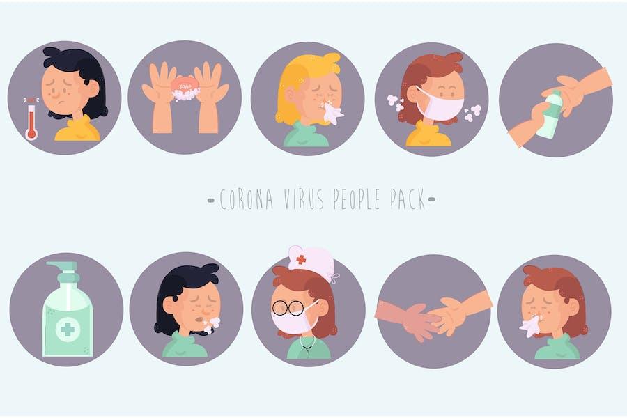 Corona Virus People Pack