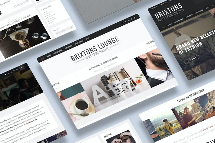 Thumbnail for Brixton - A Responsive WordPress Blog Theme