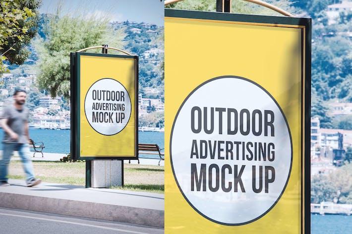 Outdoor Advertisement Mockup Template #11