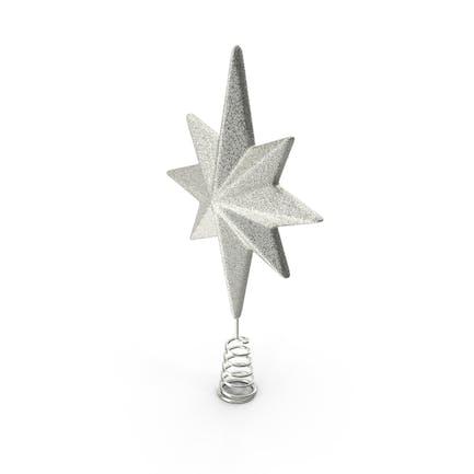 Праздник Серебряная звезда Рождественская елка Топпер