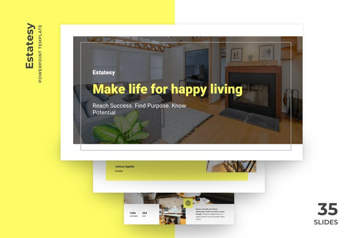 Thumbnail for Estatesy - Realtor PowerPoint Template