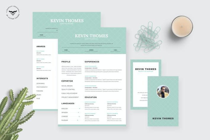 Thumbnail for Marketing CV Template