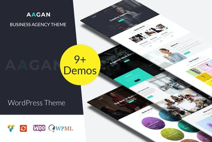 Aagan - Agency, Startup WordPress Theme