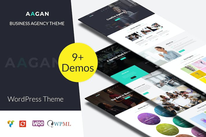Thumbnail for Aagan - Agency, Startup WordPress Theme