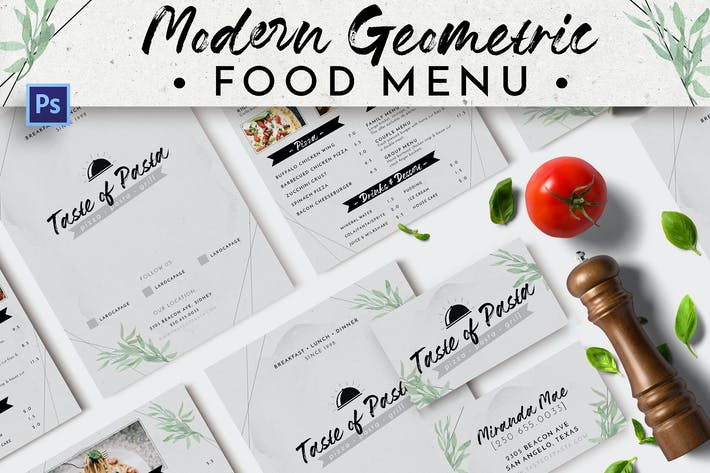Thumbnail for Modern Geometric Food Menu