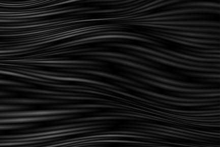Black curved smooth wavy lines abstract background