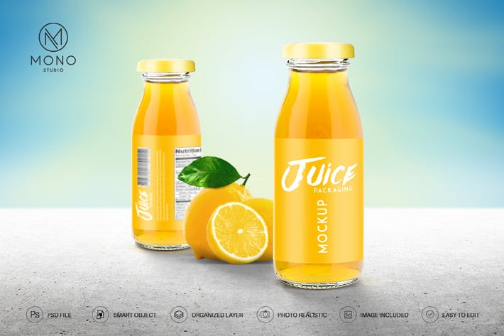 Thumbnail for Juice Bottle Mockup