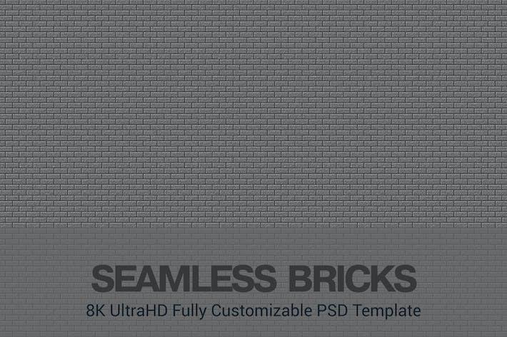 Thumbnail for 8K UltraHD Custom Seamless Bricks Background