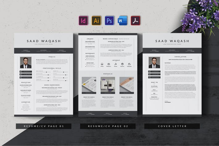 Thumbnail for Minimalist Resume Template AN v2
