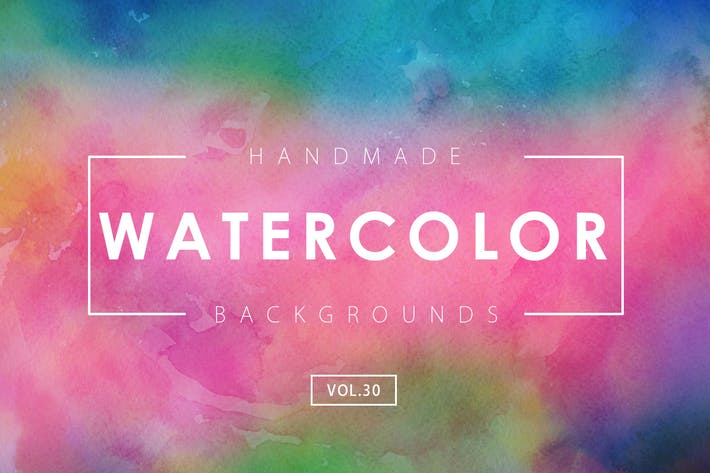 Thumbnail for Handmade Watercolor Backgrounds Vol.30