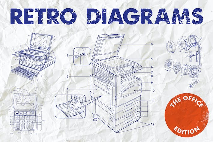 Thumbnail for Retro Diagrams - Office Edition