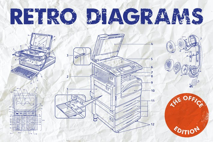 Cover Image For Diagrammes rétro - Édition Office
