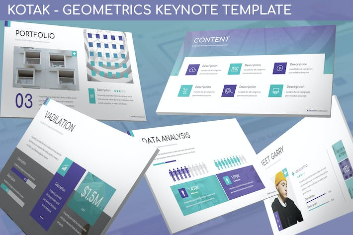 Thumbnail for Kotak - Geometrics Keynote Template