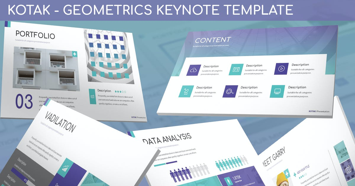 Kotak - Geometrics Keynote Template by SlideFactory