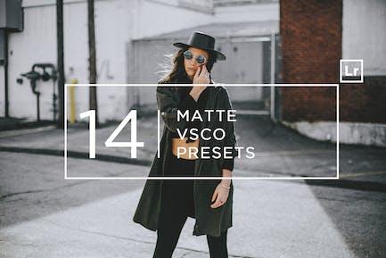14 Matte + Пресеты Lightroom VSCO