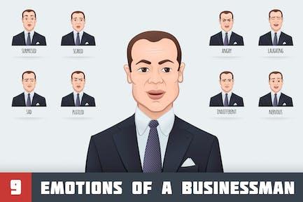 Emotionen eines Geschäftsmannes