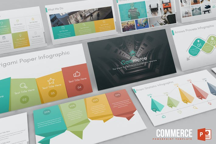 Cover Image For Commerce Powerpoint Template
