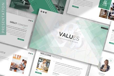 Values - Digital Creative Prensentation Template
