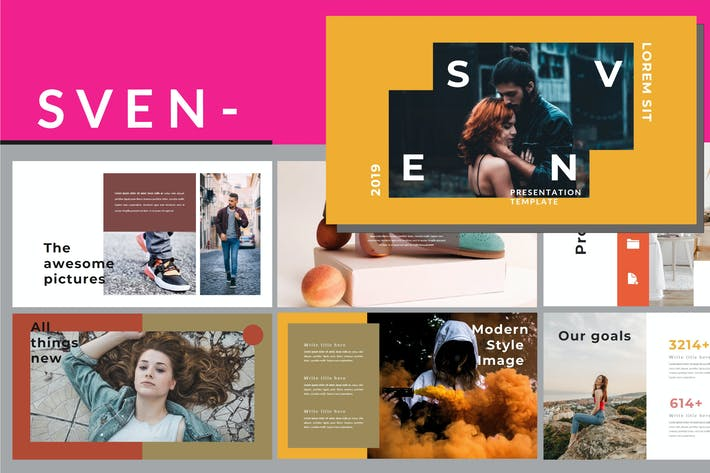 Thumbnail for Sven - Lookbook Powerpoint Template