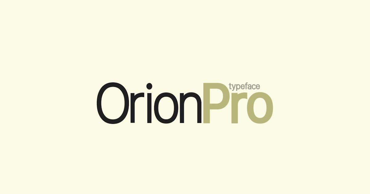 Download Orion Pro Modern Sans-Serif / Display Typeface by designova
