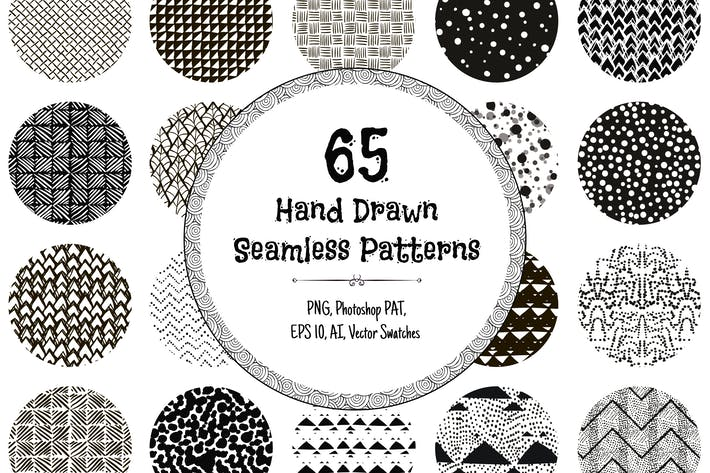Thumbnail for 65 Hand Drawn Seamless Patterns
