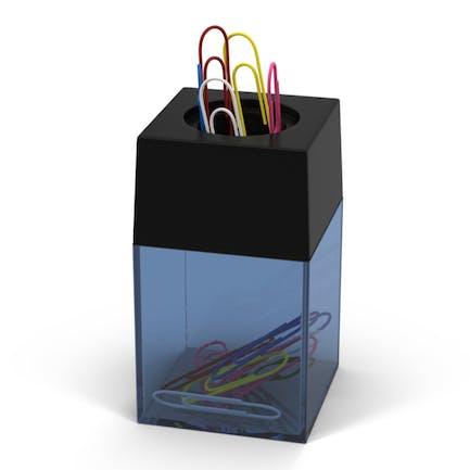Soporte magnético para clip de papel.