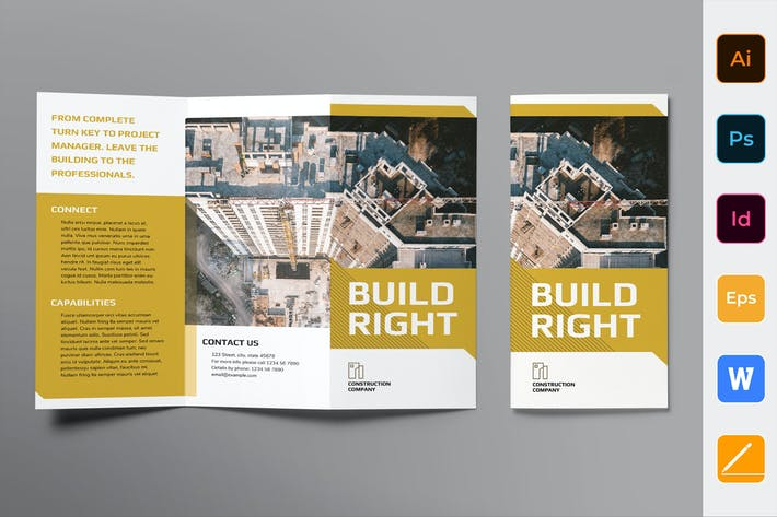 Thumbnail for Construction Company Brochure Trifold
