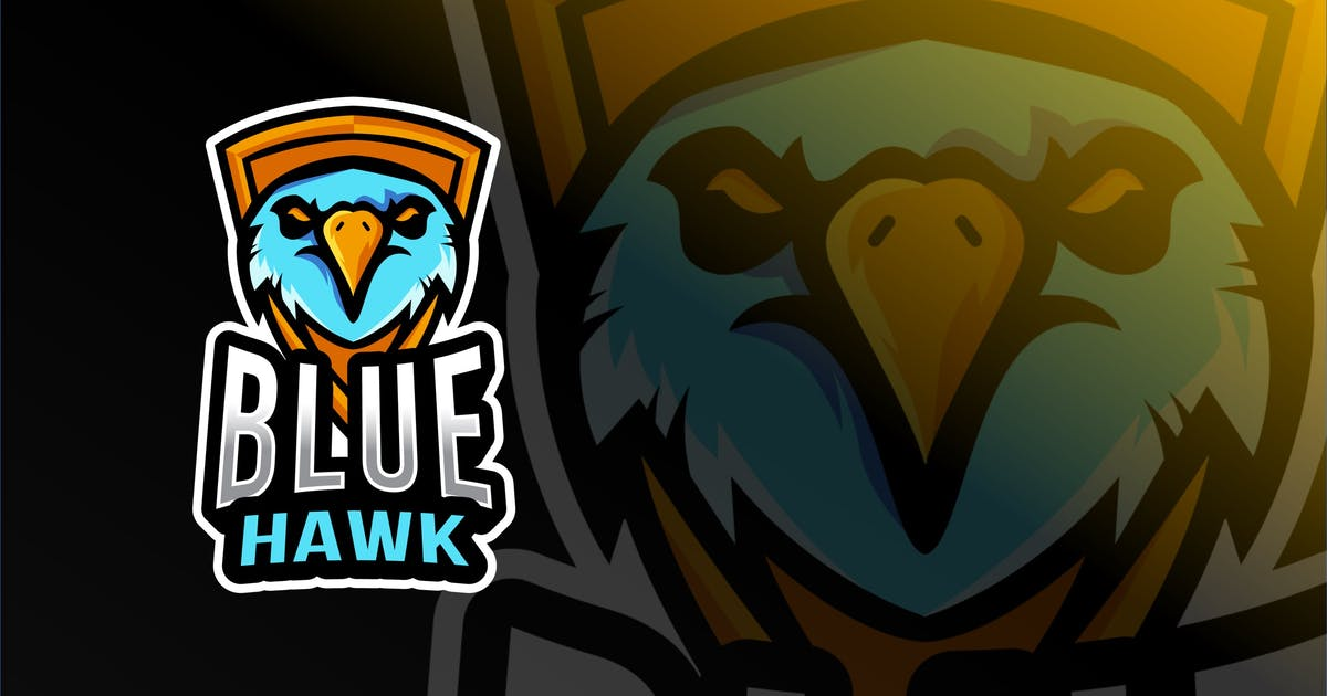 Download Blue Hawk Esport Logo Template by IanMikraz