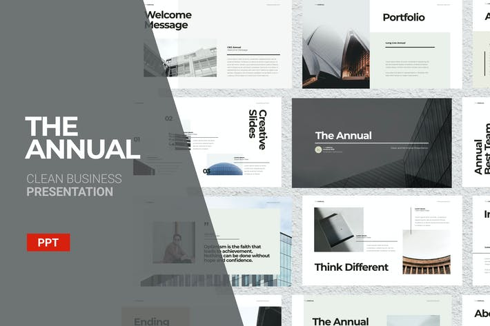 Cover Image For The Annual - Powerpoint Template