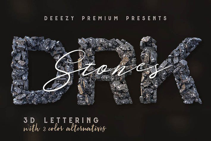 Thumbnail for Dark Stones – 3D Lettering