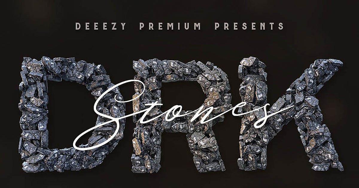 Download Dark Stones – 3D Lettering by cruzine