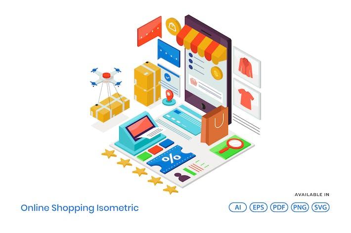 Thumbnail for Online-Shopping isometrisch