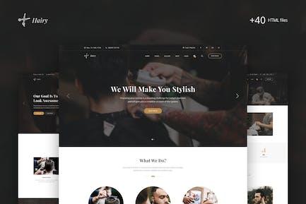 Hairy - Barbershop & Hair Salon HTML Template