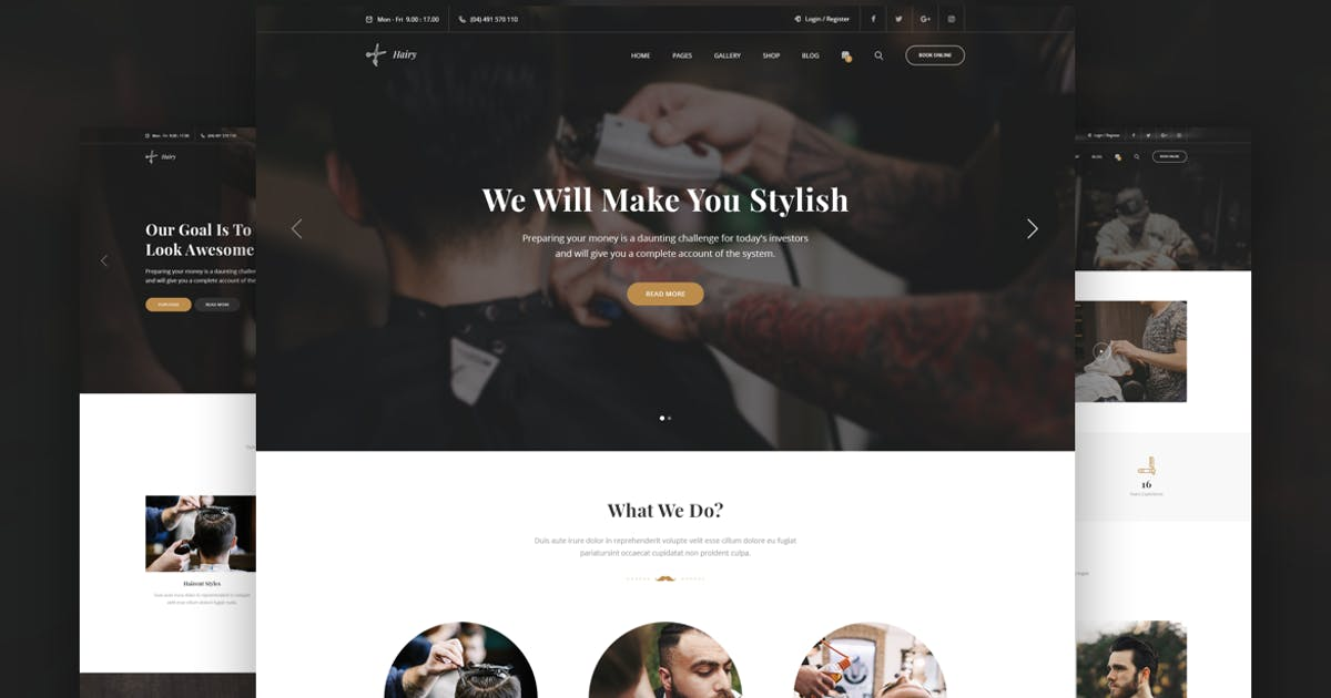 Download Hairy - Barbershop & Hair Salon HTML Template by zytheme