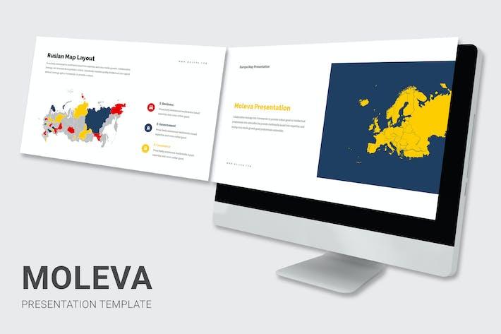 Thumbnail for Moleva - Europe Map Powerpoint