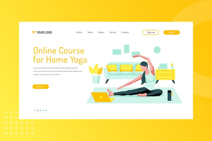 Cover Image For Online Course for Home Yoga Landing Page