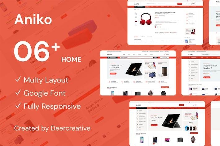 Thumbnail for Aniko | Multipurpose Electronics eCommerce PSD