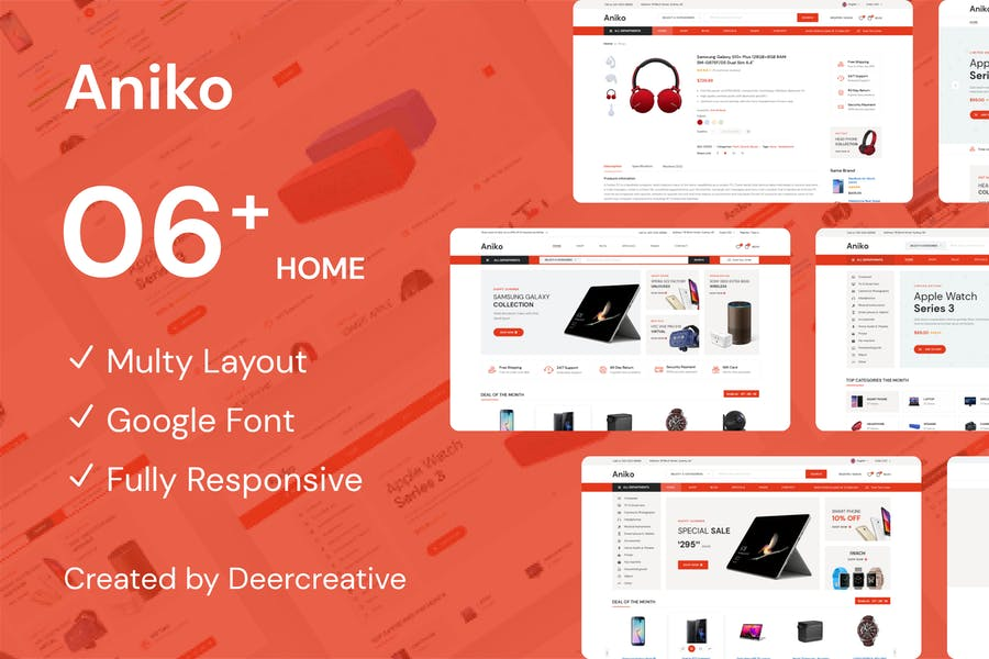 Aniko   Multipurpose Electronics eCommerce PSD