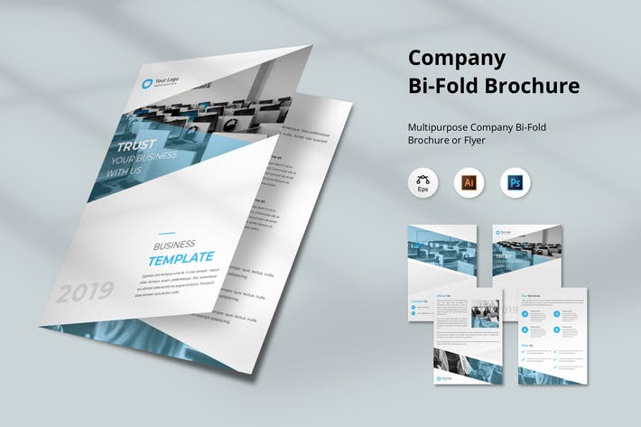 Thumbnail for Corporate Brochure Bi-Fold Template