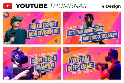 Colorful Esport Game Youtube Thumbnail Template