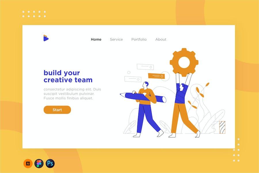 Team work illustration for website 1.1