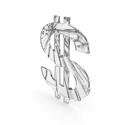 Dollar Glass Cracked