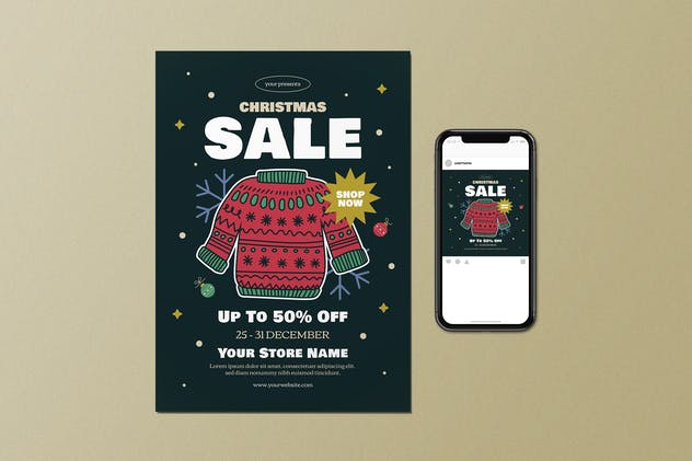 Christmas Sale Flyer Set - product preview 0
