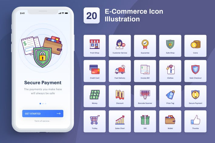 Thumbnail for Ecommerce - Ilustración de iconos