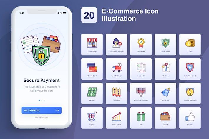 Thumbnail for Ecommerce - Icon Illustration