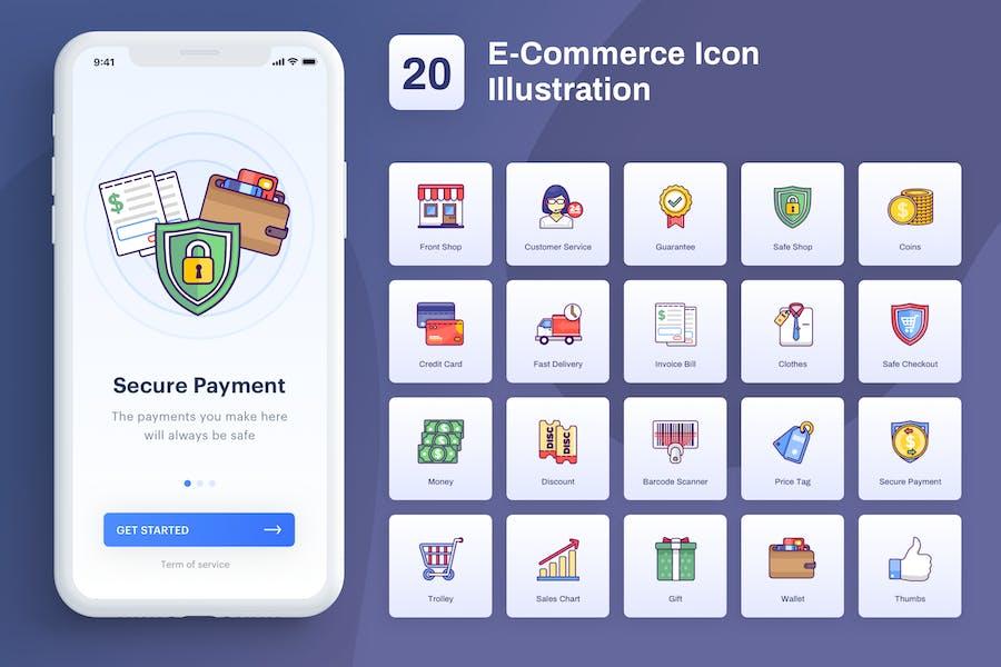 Ecommerce - Icon Illustration