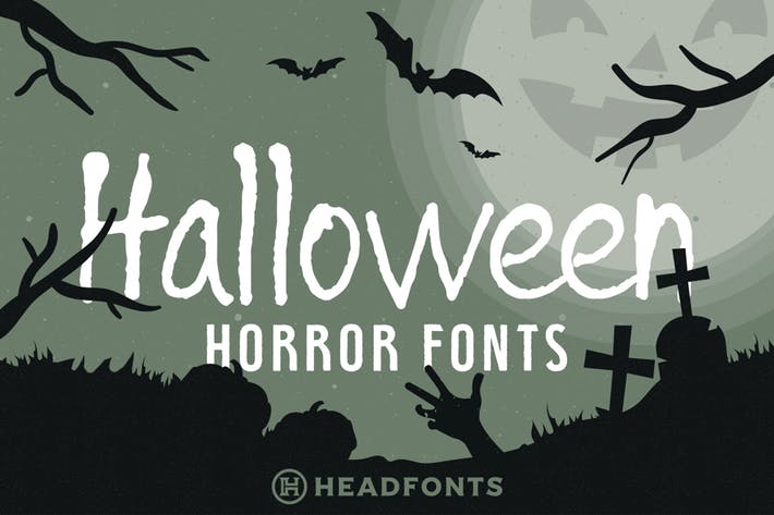 Thumbnail for Halloween Horror Font Bundle