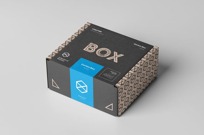 Thumbnail for Carton Box Mock-up 95x85x42