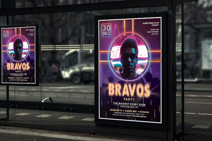 Thumbnail for Bravos - Music and Party Poster HR