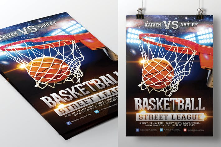 Cover Image For Basketball Game Flyer